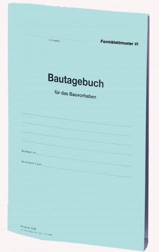 Bautagebuch Formblatt VI als Broschüre