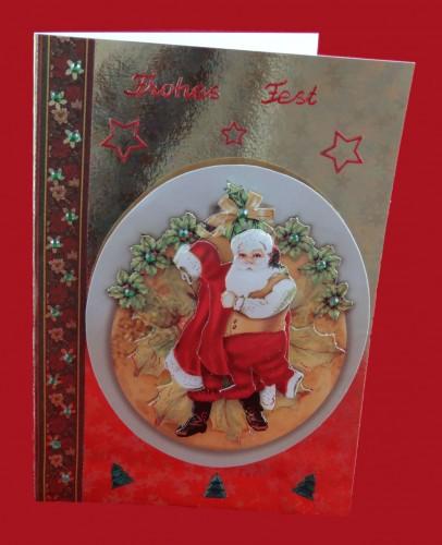 Weihnachtskarte Weihnachtsmann