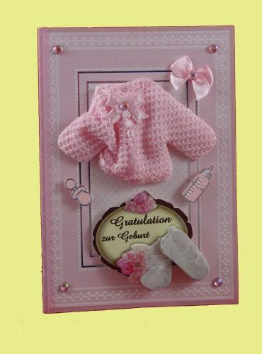 Geburtskarte Mädchen