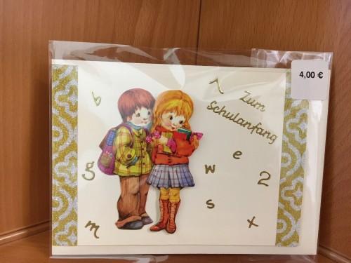 Zum Schulanfang Mädchen und Junge