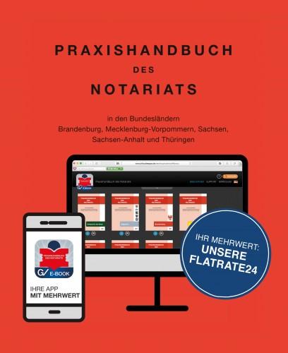 Praxishandbuch des Notariats Flatrate24  Zum Preis von mtl.
