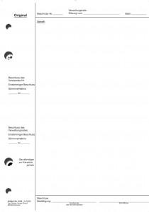 Verwaltungsratsbeschluss (Original) - Format DIN A4