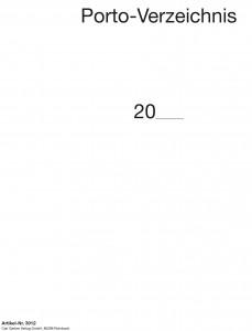 Portoverzeichnis (200 S.)