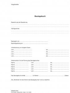 Einlage Titel Bautagebuch EFB-Bautagb 357.StB