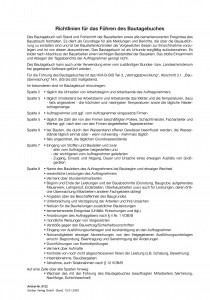 Einlage Richtlinien Bautagebuch EFB-Bautagb 357.StB