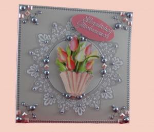 """Deluxe-Grußkarte """"Kristallzauber"""" Herzlichen Glückwunsch"""