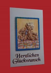 """Geburtskartekarte """"Herzlichen Glückwunsch"""""""
