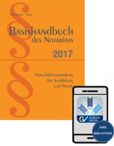 E-Book - Basishandbuch des Notariats 2018