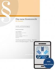 """E-Book """"Das neu Kostenrecht des Notariats"""""""