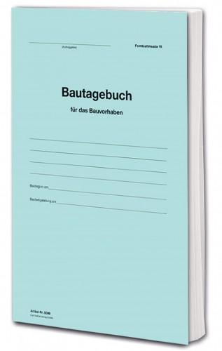 Bautagebuch Formblatt VI als Buch