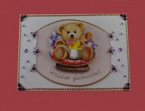 Bär wünscht Herzlichen Glückwunsch