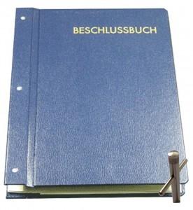 Beschlussbuch (blau) -Verschließbar - DIN A4