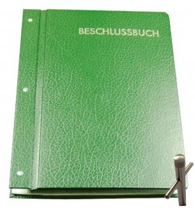 Beschlussbuch (grün) - Verschließbar DIN A4
