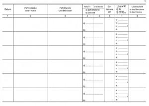 Fahrtenbuch, detailliert für Behörden und Unternehmen