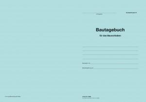 Loseblatt Umschlag - Bautagebuch Formblattmuster VI -Erfassen von Baustellenleistungen