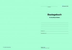Loseblatt Umschlag - Bautagebuch Formular EFB-Bautagb 375.StB - Erfassung der Baustellen spezifischen Leisungen