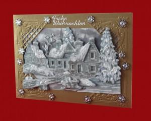 Satin-Weihnachtskarte