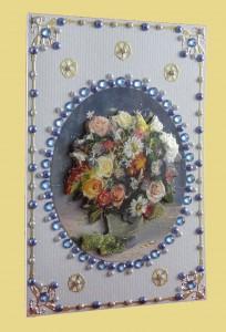 Grußkarte mit Blumenstrauß bunt