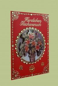 Glückwunschkarte mit Blumenstrauß