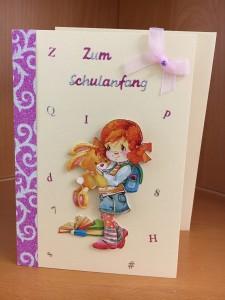 Schulanfangskarte Mädchen
